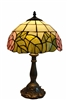 "Tiffany Lamps | Tiffany lamp Pink Rose Zinc Base | Tiffany Table Lamp | 12 inch Tiffany Sytle Lamp | 12 inch Glass lamp Shade | 12"" Glass Lamp Shade 