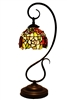 "Tiffany Reading Lamp | Tiffany Lamp | Tiffany Desk Lamp | Tiffany table Lamp | Tiffany Reading Lamps with Rose Design | 10"" Lamp Shade 