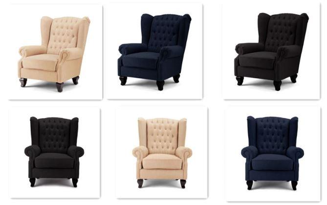 Amazing Seriena La Rochelle Tufted Back Linen Sofa Chair Theyellowbook Wood Chair Design Ideas Theyellowbookinfo