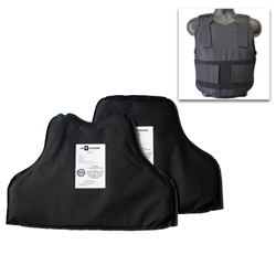 AT Armor AT11 Concealment Armor- Level II NIJ06 Front and Back Panels plus ATCC Carrier