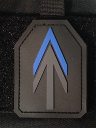 AT Armor Thin Blue Line SAPI PVC Patch