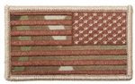 US Flag Multicam Reverse Embroidered Patch