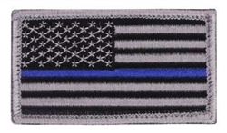 US Flag Embroidered Thin Blue Line Patch