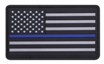 US Flag Thin Blue Line PVC Patch