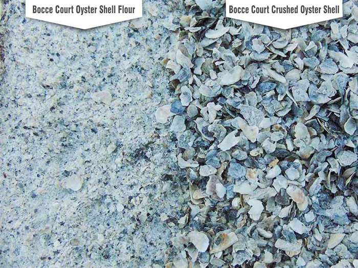 Bocce Court Oyster Shell Blends Landscape Rock Material Wholesale