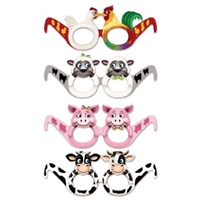 Farm Animal Eyeglasses for Kids | 12-pack of Eyeglasses
