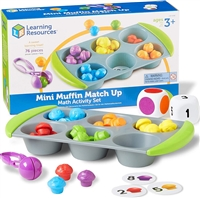 Active Learning-Mini Muffin Match Up Math Activity Set