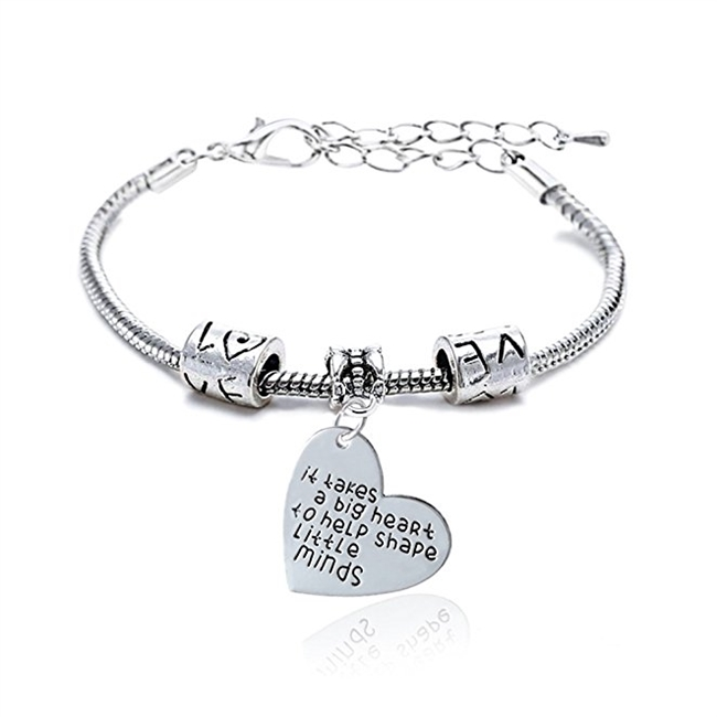 It Takes a Big Heart to Help Shape Little Minds - Bracelet