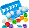 Matching and Shapes Egg Carton designed to help preschoolers learn to shapes, sort, and match