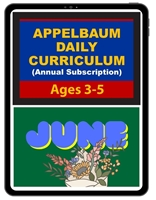 Appelbaum's Daily Curriculum Ages 3-5 Subscription for the Digital copy- Paid Annually