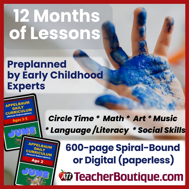 Appelbaum Digital Curriculum Age 2 or Ages 3-5 Subscription Paid Annually