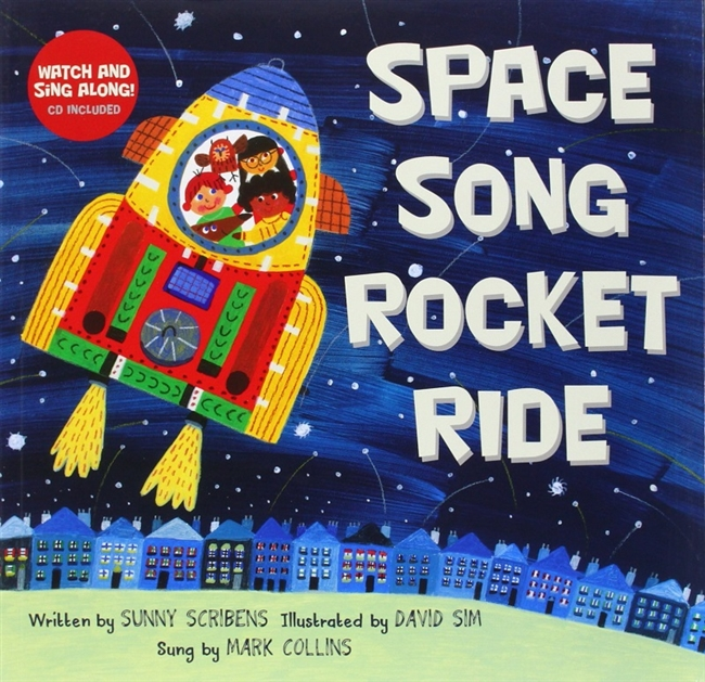 Space Song Rocket Ride Music Book & CD for Childhood Development