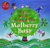 Here We Go Round the Mulberry Bush | Music Book & CD for Childhood Development