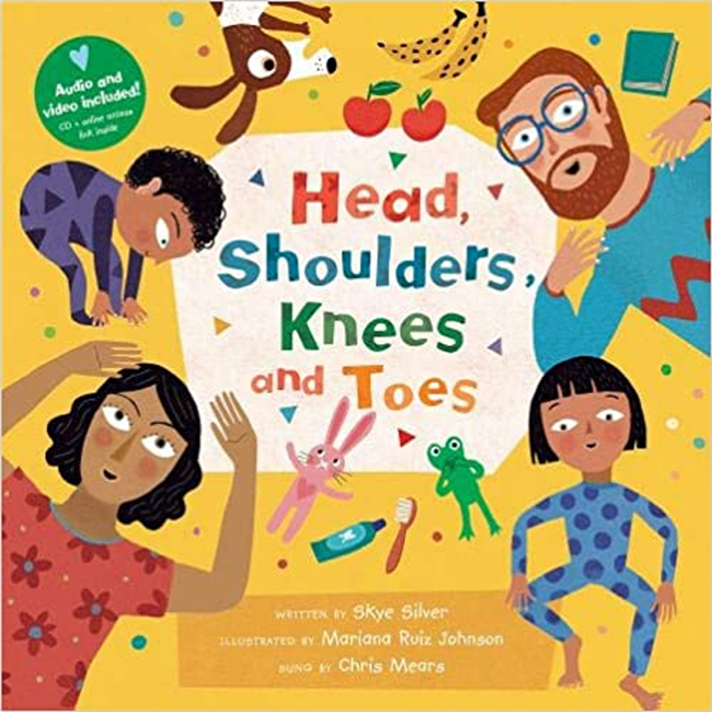 Head Shoulders Knees Toes | Music Book & CD-DVD for Childhood Development