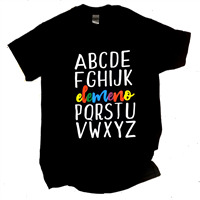Teacher T-shirts: Elemeno P alphabet shirt