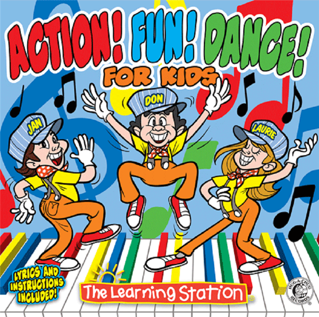 Action! Fun! Dance! for Kids | Interactive Sing-along Music CD