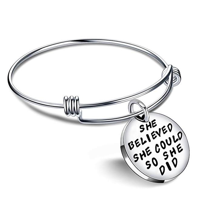 Cuff Bracelets for Teachers: She Believed she Could so she Did
