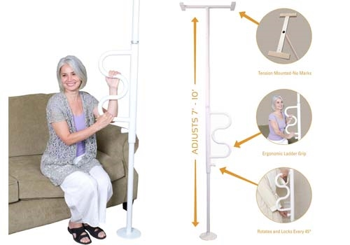 Stander Security Pole Curve Grab Bar