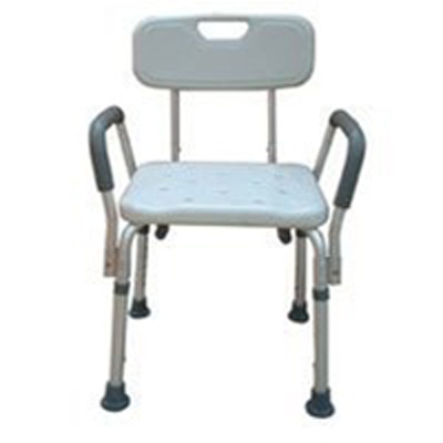 Drive Medical Bath Bench W Back And Removable Padded Arms