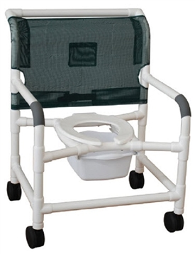 MJM Extra Wide PVC Shower Commode Chair 126-4-NB
