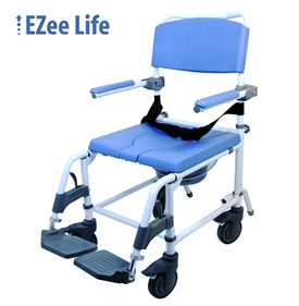 EZee Life, Aluminum Attendant Shower & Commode Chair