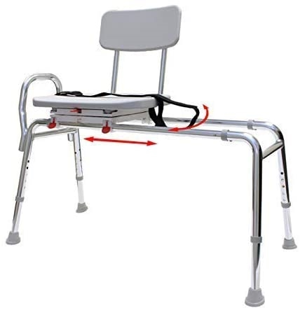 Eagle Health Sliding Transfer Bench w/ Swivel Seat 77662, 77682, 77692