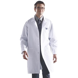 Medline White Unisex Knee Length Lab Coat