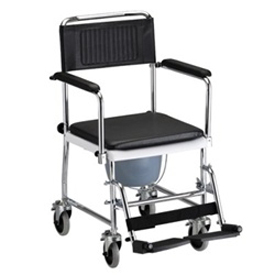 Nova Drop-Arm Transport Commode Chair - 8805