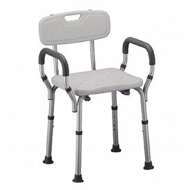 Nova Shower Bench with Arms and Back