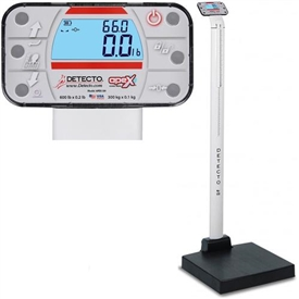 Waist-High Physician Scales with Height Rod