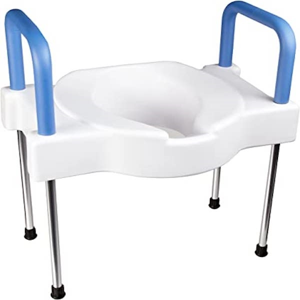 Extra Wide Tall Ette Elevated Toilet Seat Bath Safety Aids