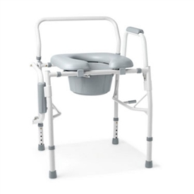 Medline Guardian Padded Drop-Arm Commode - G98204