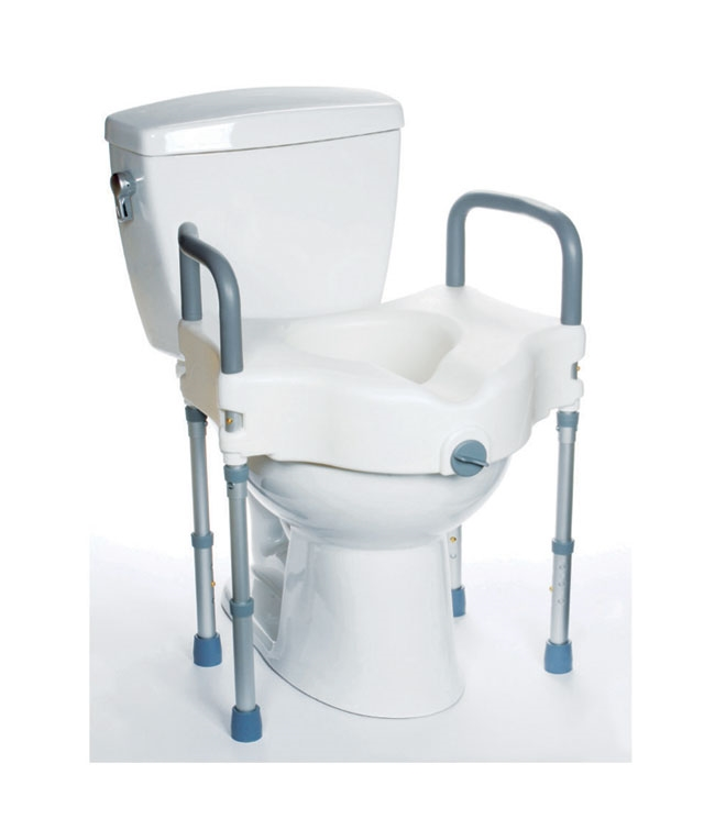 Excellent Mobb Elevated Raised Toilet Seat With Arms And Legs Bralicious Painted Fabric Chair Ideas Braliciousco
