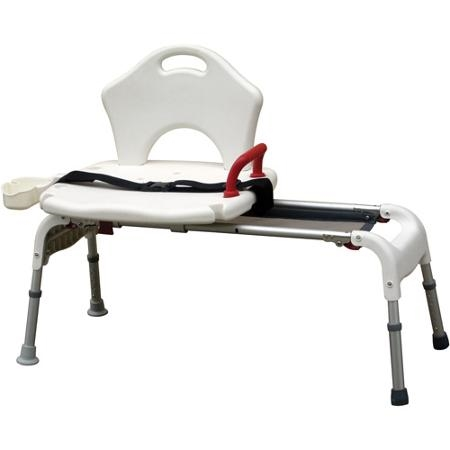 Drive Medical Folding Universal Sliding Transfer Bench | Transfer Bench