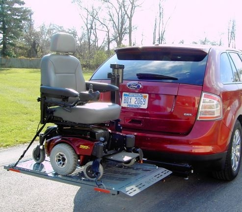 Veterans Patriotic Power Chair Electric Scooter Lift Carrier ...