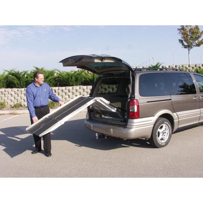 pvi rear door mounted wheelchair scooter ramp model van727 van827