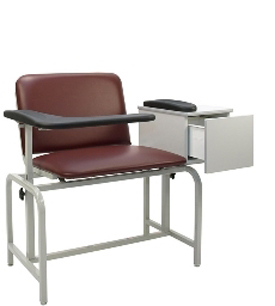 Winco 2574XL Padded Blood Drawing Chair