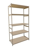 "18""D x 36""W x 74""H c/w 5 Shelf levels - Main Unit"