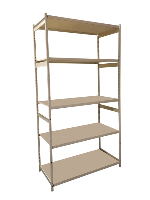 "18""D x 48""W x 86""H c/w 5 Shelf levels - Main Unit"
