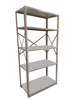 "Open Kwikerect Shelving - 18""D x 87""H c/w 5 Steel Shelves"