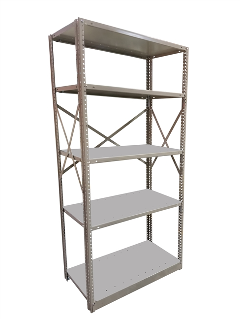 "Open Kwikerect Shelving - 24""D x 75""H c/w 5 Steel Shelves"