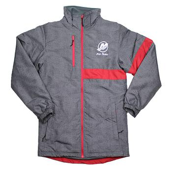 Raider Stripe Jacket - Carbon Grey / Scarlet