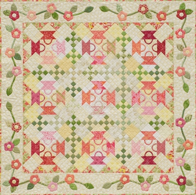 Baskets and Blossoms Pattern