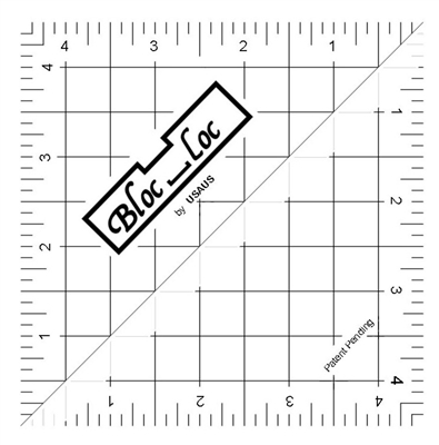 "Bloc Loc 4.5"" Half Square Triangle Square Up Ruler"