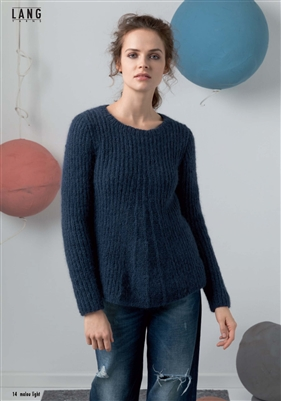 Malou Light Pullover Sweater Kit Pattern & Yarn