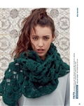 Unique Mosaic Crochet Scarf Kit with Faith Yarn & Pattern