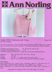 Garter Stitch Camisole with Purse