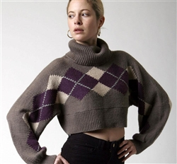Argyle Crop Top Sleeve  Downloadable Version