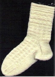 Twined Knitted Socks