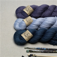 British Blue Wool in 100g Hanks by Erika Knight